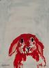 Red Rabbit, oil, 17 x 23
