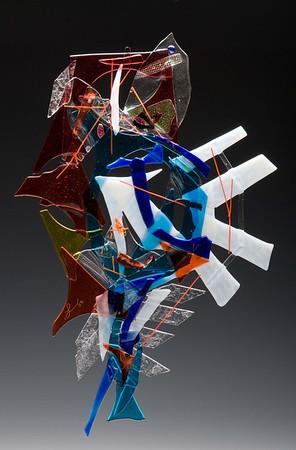 Artist Lin McDowell Fused Glass