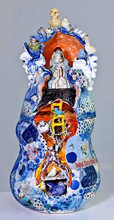 Darlene Schaper Encustic  Sculptural