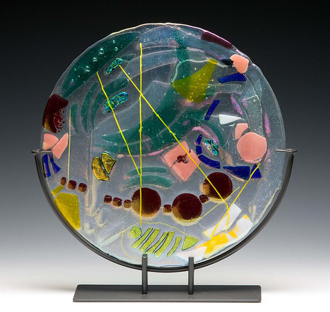 Artist Lin McDowell Fused Glass