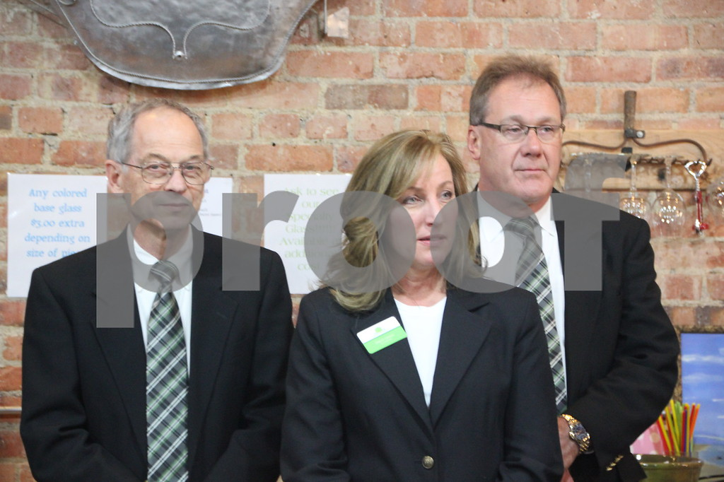 Thursday, November 19, 2015, Studio Fusion had their ribbon cutting ceremony at Studio Fusion in Fort Dodge. Pictured here is (left to right): Dean Barnett, Dawn Larson, and Scott McQueen, who are ambassadors from Fort Dodge Growth Alliance.