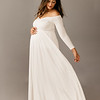 Athena Gown in White. Material: Luxe Jersey. Suggested Size: 4-12. Can be worn fitted or flowy.