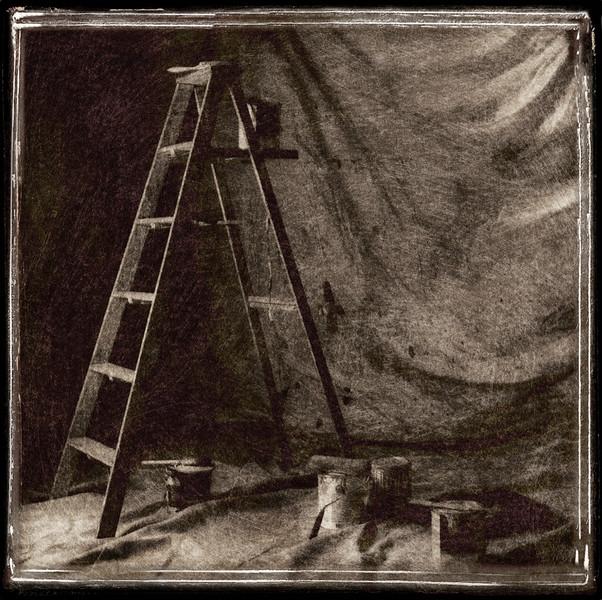 Vintage Ladder & Paint