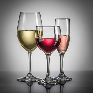 Wine goblets.