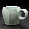 faceted mug, celadon