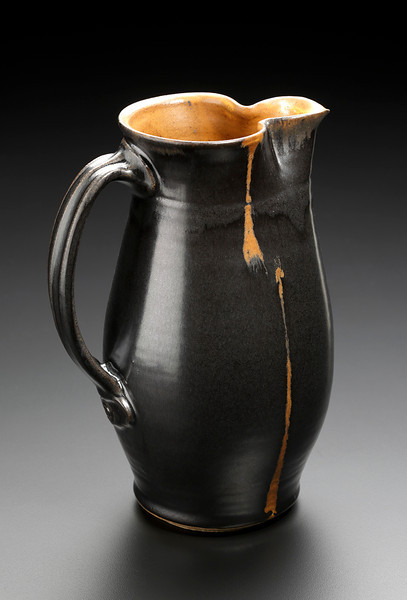 pitcher with wax resist design