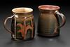 mugs with temmoku glaze