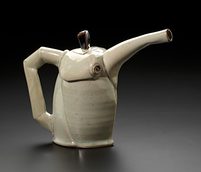 hand built and thrown teapot