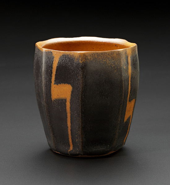 cup with wax resist design