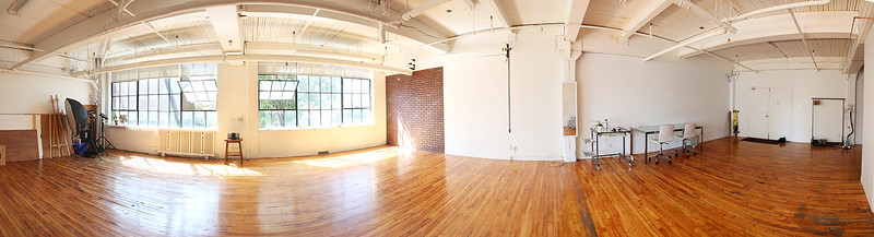 This beautiful workspace is available for daily rentals.<br /> Located in Complex du Canal Lachine<br /> 4710 St. Ambroise  Studio 239<br /> Montreal, QC<br /> H4C 2C7<br /> <br /> -1200 sq ft of open work space. <br /> -80 sq ft bank of daylight, with blinds.<br /> -9ft Seamless bracket<br /> -V-Flats & foam core 4'x8' ft available.<br /> -Bathroom with bath and shower<br /> -Kitchenette with basic amenities. <br /> -Freight dock<br /> -Free parking<br /> -5min from Marché Atwater.<br /> <br /> Rates:<br /> Half Day rental $150  4hrs<br /> Full Day rental $220  8hrs<br /> *additional $30 per hr over 8hrs<br /> Please contact Drew for more information and booking availability.<br /> 514-961-9624<br /> <br /> Lighting and grip rental can be arranged.