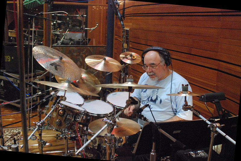 Peter Erskine.  Vince Mendoza session at Conway Studio 'A' 2/28 - 3/1/2010