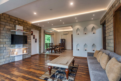 Living Room of a vacation home in Kasauli