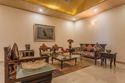 Living room on the 2nd level inside Dharampur luxury property