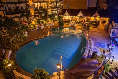 Swimming pool at the Treebo Santiago Resort in Goa