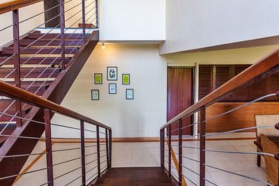 Staircase between drawing and dining