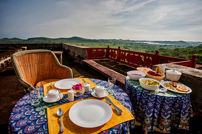 Breakfast setup on the terrace
