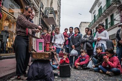 Puppeteer at La Boca, Buenos Aires, Argentina