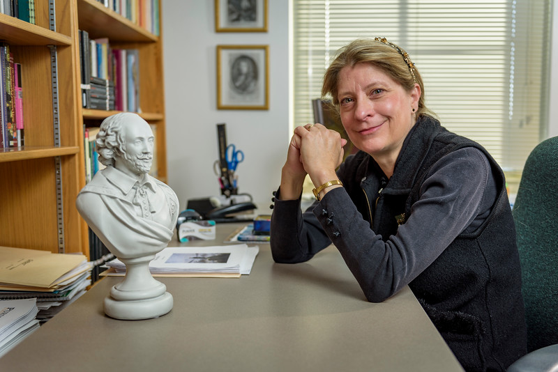 Melinda Zook, professor of history and director, cornerstone integrated liberal arts, in her office at University Hall. (Purdue University Photo/Alex Kumar)