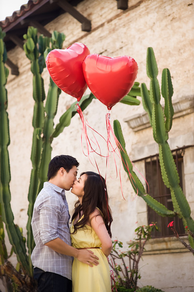 Youngji & Kevin Engagement Shoot: San Juan Capistrano Mission & Open Space