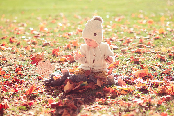 Baby Outdoor Shooting Herbstfarben
