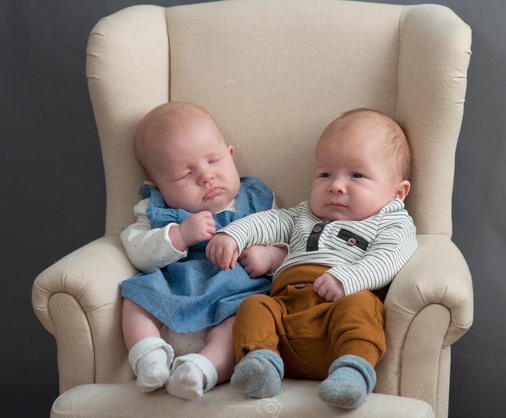 Twin Babies, Studio Shooting
