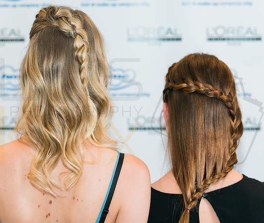 Professionelles Hair Styling mit Zopf