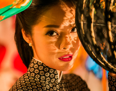 Asian beautiful model Night Portrait