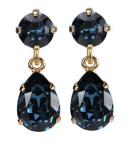 Mini Drop Earrings / Denim Blue