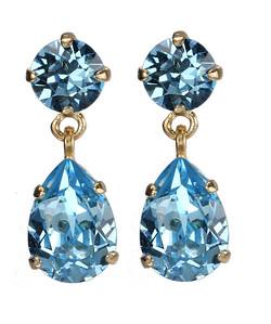 Mini Drop Earrings / Aquamarine