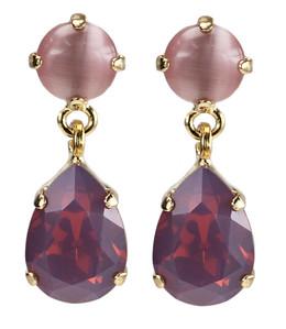 Mini Drop Earrings / Cyclamen Opal