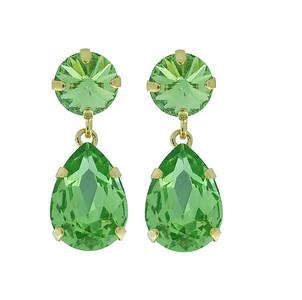 Classic Drop Earrings / Peridot