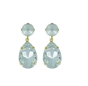 Perfect Drop Earrings / Pearl + Crystal