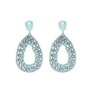 Maria Earrings / White Opal