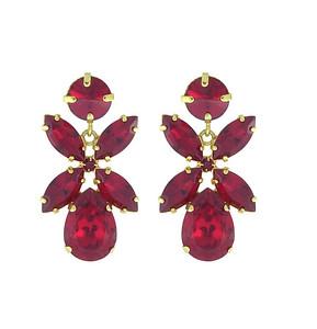 Dione Earrings / Ruby