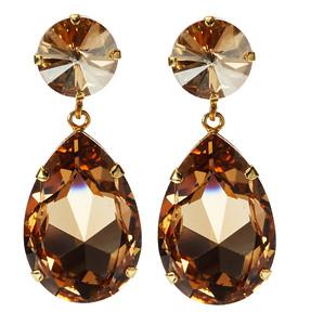 Perfect Drop Earrings / Light Colorado Topaz