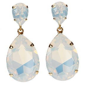 Perfect Drop Earrings / White Opal