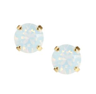 Classic Stud Earrings / White Opal