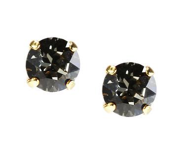 Stud Earrings / Black Diamond