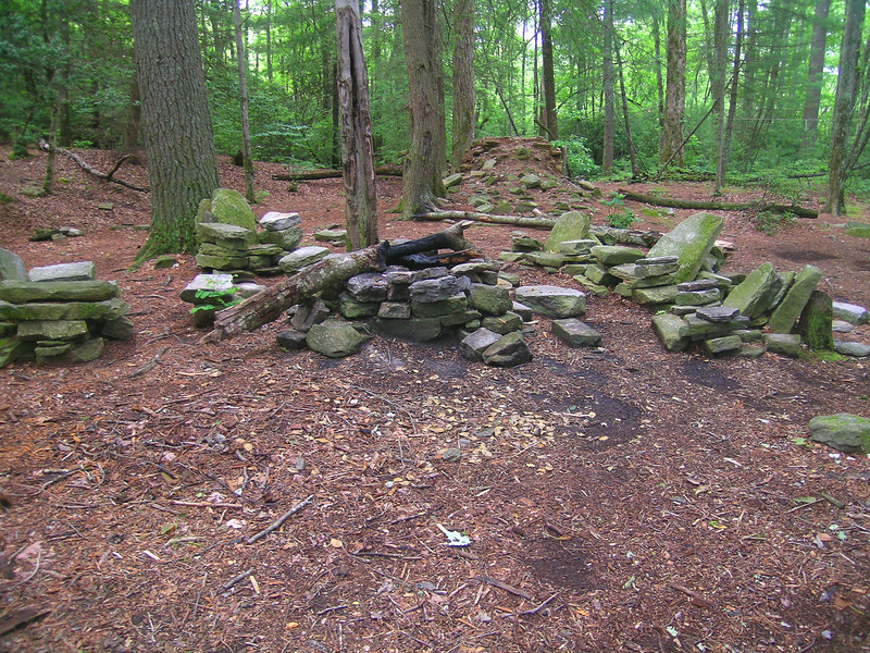 Hiker's Lounge at The John L Cantrell Home Site.  Creativity or Disrespect?