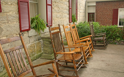 Porch of the Jailer's Inn - Bardstown, Kentucky