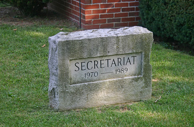 Secretariat's grave at Claiborne Farms in Kentucky