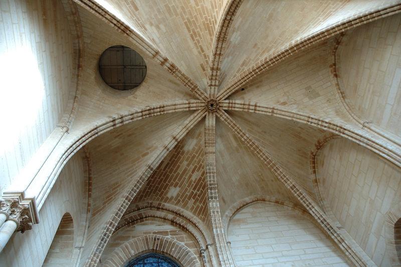 La voute de la premire salle dans la tour (Nord ???) de notre Dame de Paris.