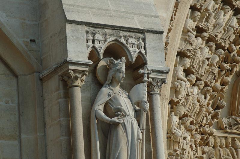 DŽtails de la faade de Notre Dame de Paris