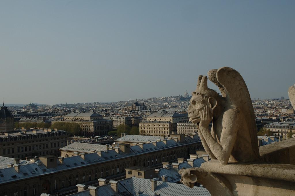 La  Stryge avec Paris en fond...<br /> Notre Dame de Paris