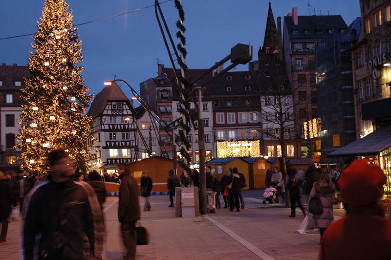 Sapin de No'l, place Kleber ˆ Strasbourg