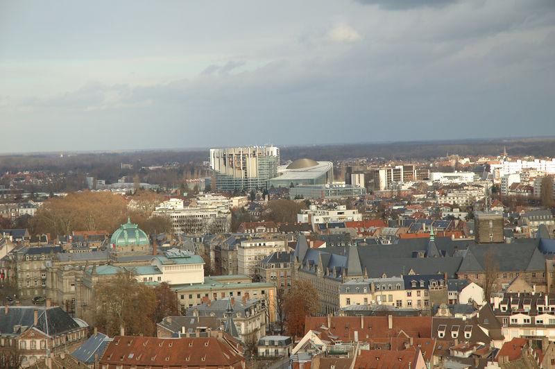 Strasboug, vue de la cathŽdrale.