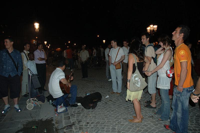 Musicien Parvis de Notre Dame