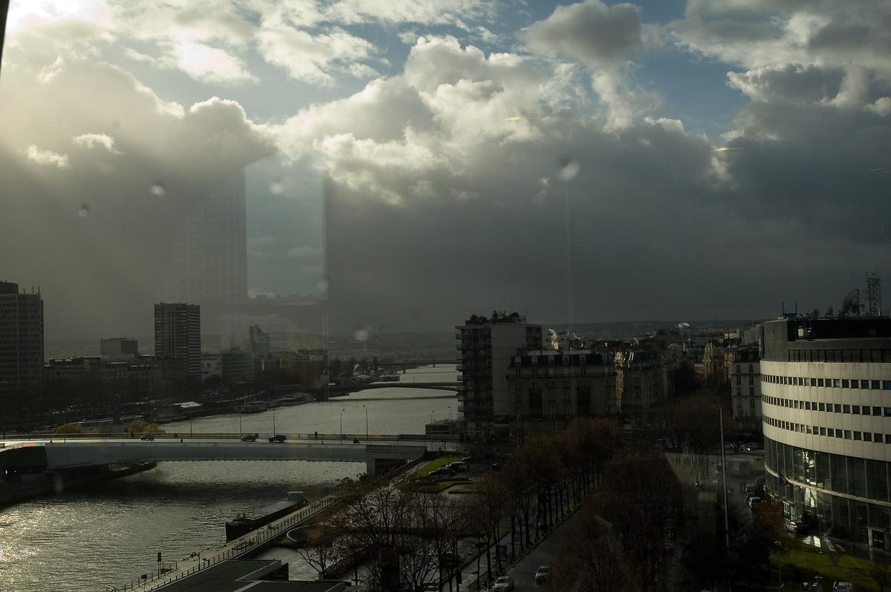 Paris, maison de la radio, photo prise depuis les bureaux du labo