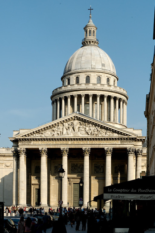 """The pantheon, at the top of the """"montagne ste Genevieve. This is where the most famous french are buried (Moliere, Napoleon, etc...)."""