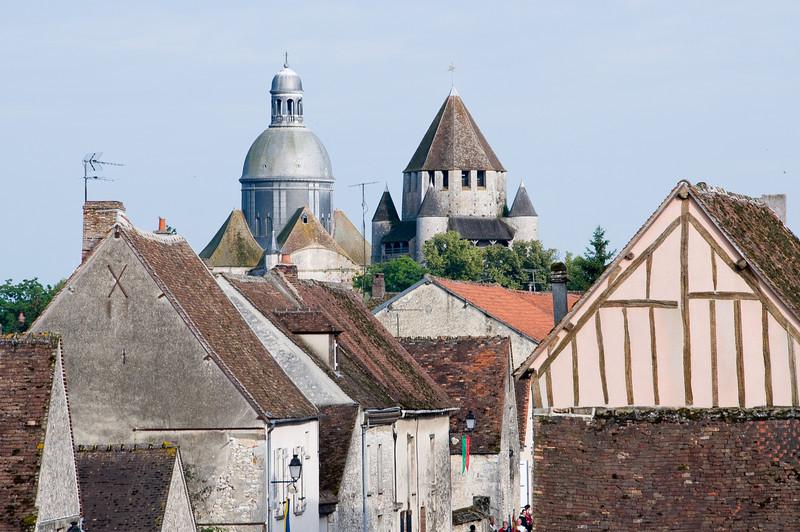 Vue de la ville haute de provins depuis les remparts